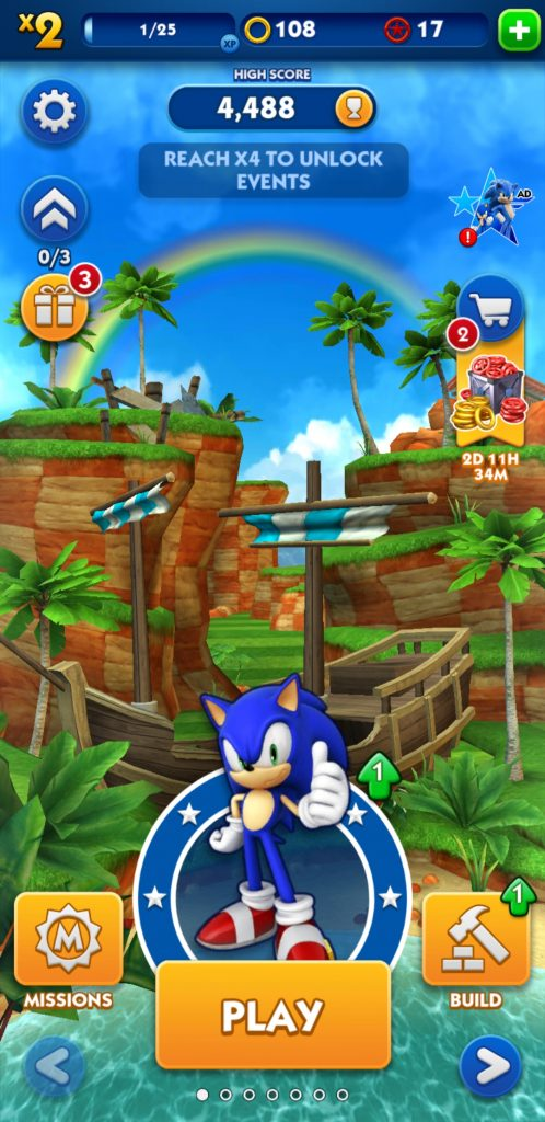 بازی Sonic Dash برای موبایل